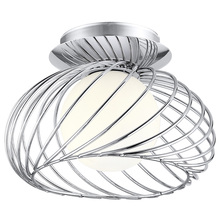 Eglo 91166A - 1x40W Ceiling Light w/ Chrome Finish & Opal Frosted Glass