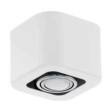 Eglo 93011A - 1x35W Ceiling Light w/ Glossy White & Chrome Finish