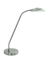 Eglo 93648A - 1x3W LED Table Lamp w/ Matte Nickel Finish & White Glass