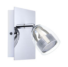 Eglo 93741A - 1x6.3W LED Wall Track Light w/ Chrome Finish & Clear Plastic Glass