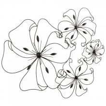 Cyan Designs 05832 - Fancy Flower Wall Art
