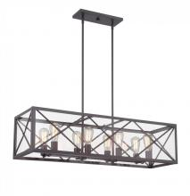 Designers Fountain 87338-SB - High Line 8 Light Linear Chandelier