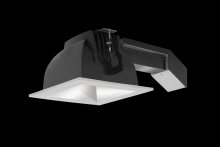 "RAB Lighting RDLED6S26E-50Y-M-S - REMODELER 6"" SQUARE 26W 3000K DIM ELV 50 DEGREES MATTE CONE SILVER RING"