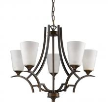 Acclaim Lighting IN11265ORB - Zoey Indoor 5-Light Chandelier W/Glass Shades In Oil Rubbed Bronze