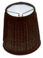 "Satco Products Inc. 90/1272 - Clip-On Shade; Black Pleated Round; 3"" x 4"" x 4"""
