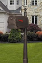 Special-Lite SCS-1014_SPK-600-CP - Savannah Curbside Mailbox with Ashland Mailbox Post Unit