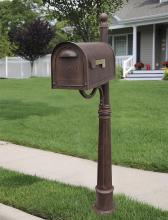 Special-Lite SCC-1008_SPK-600-CP - Classic Curbside Mailbox with Ashland Mailbox Post Unit