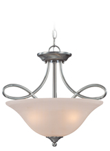 Jeremiah 25033-SN - Cordova 3 Light Convertible Semi Flush/Pendant in Satin Nickel