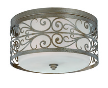 Jeremiah 35883-AO - Worthington 3 Light Flushmount in Athenian Obol