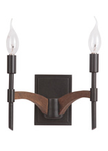 Jeremiah 40362-ESPWB - Tahoe 2 Light Wall Sconce in Espresso/Whiskey Barrel