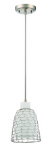 Jeremiah P625SN1 - 1 Light Mini Pendant with Cord in Satin Nickel