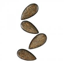 Sterling Industries 138-045/S4 - Ainsdale-Set Of 4 Hammered Metal Leaves.
