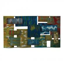 Sterling Industries 138-062 - Broward-Contemporary Hand Painted Metal Wall Collage