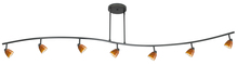 CAL Lighting 954-77L-DB/AMS - 7 Lights With Depth, Serpentine Light, 120V, Gu-10, 50W Each, W/ 60In Wire (Purchase The Extra Poles