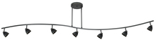 CAL Lighting 954-77L-DB/CDB - 7 Lights With Depth, Serpentine Light, 120V, Gu-10, 50W Each, W/ 60In Wire (Purchase The Extra Poles