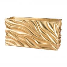 Dimond 166-012 - Swirl Table Planter - Gold Leaf