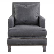 Uttermost 23303 - Uttermost Connolly Charcoal Armchair