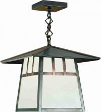 "Meyda Tiffany 29528 - 12""Sq Stillwater Double Bar Mission Ceiling Pendant"